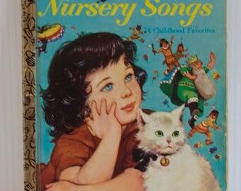 Vintage 1973 Nursery Songs Little Golden Book - Children's Book - 14 Childhood Favorites