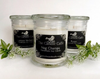 Scented Soy Candles   12 Ounce Glass Status Jar