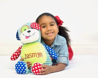 Personalized Stuffed Animal, Dog, Personalized Dog, Birth Stats Keepsake, Personalized Gift, Birth Announcement Stuffed Animal,Cubbies