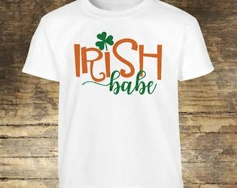 Irish Babe Shirt, St Patricks Day, St Patricks Day Shirt, Irish, Irish Shirt, Lucky, Lucky Shirt, Shamrock, Shamrock Shirt, Babe, Babe Shirt