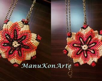 Mandala pendant autumn / Mandala Autumn Necklace