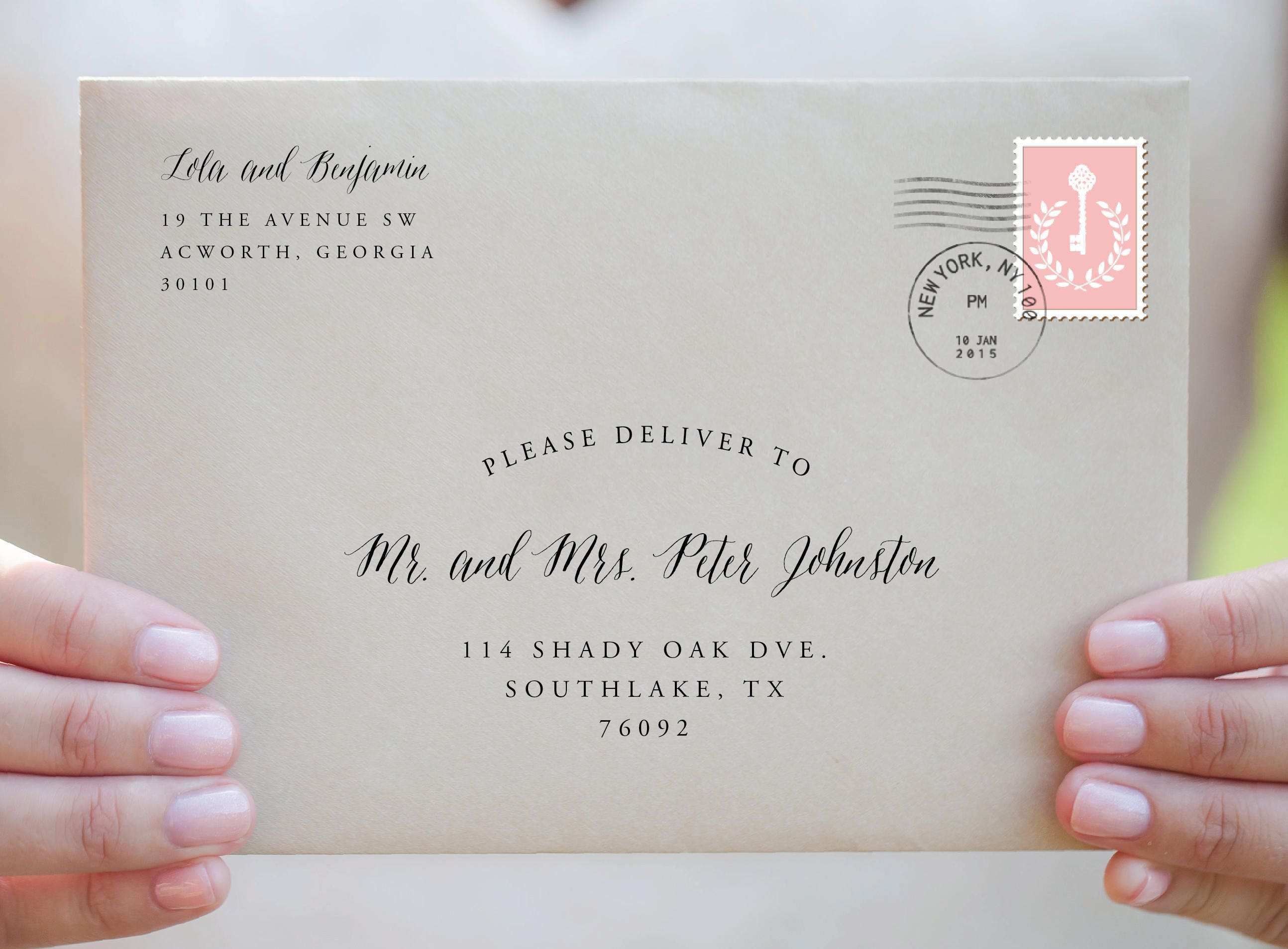 It's just a picture of Declarative Printable Envelope Address Template