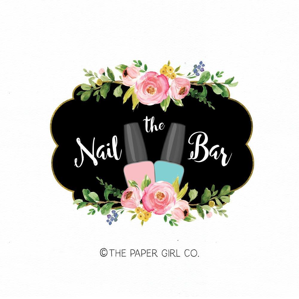 manicurist logo nail salon logo nail polish logo premade
