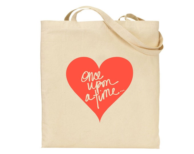 Personalised once upon a time... Tote Bag, Available in any colour, Bridesmaid, Flower girl. Mother's day, Hen do, Wedding tote bag
