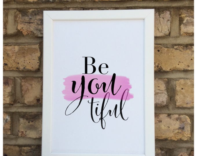 Beyoutiful quote Print | Wall prints | Wall decor | Home decor | Print only | Typography