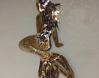 Mermaid  - Stainless steel Mermaid -Home Decor  - Metal Art  Wall Hanging