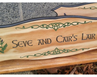 Celtic Wood Signs, Routed Wood Signs, Inset Letters, Carved Wood Signs, Carved Wood Signs, Custom Outdoor Signs,  Rustic Wood Signs,