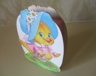 Vintage Easter Bunny Chick / Chicken chocolate box.