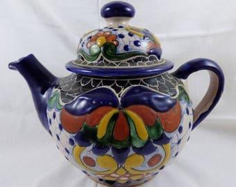 Talavera Mexican Majolica Pottery Teapot HZ