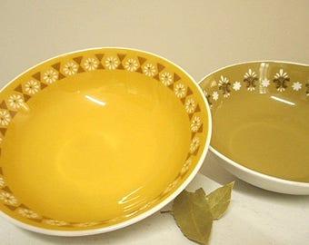 "Vintage 70s  Mikasa ""Mediterrania"" Set of Two Serving Bowls"