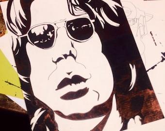 Jim Morrison sharpie drawing