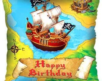 Pirate Birthday Mylar Balloon