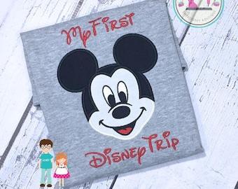 My First Disney Trip Shirt, Boys Mickey Mouse Shirt, Disney Shirt, Boys Mickey Shirt, Disney Vacation Shirt, Red Mouse Shirt, Mickey