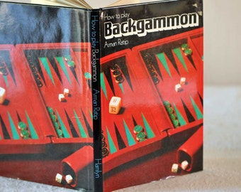 Vintage How to Play Backgammon Hardcover Book by Arman Ratio / Backgammon Instructions / Hardcover Backgammon How To Book /