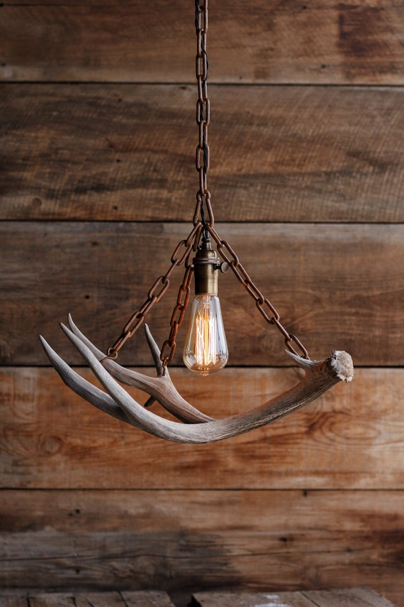 The durango chandelier antler pendant light rustic chain like this item mozeypictures Choice Image
