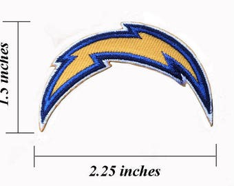 """Los Angeles Chargers Logo Size 2.25"""" Embroidered Iron 1 Patches"""
