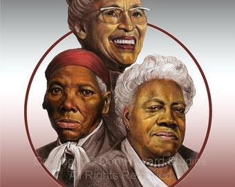 Tubman_Parks_Bethune Black Historical Art Print Don Howard