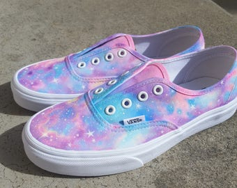 "Custom color ""Rainbow Galaxy"" handpainted Vans Authentic"