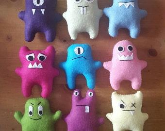 Handmade Plush Little Monsters