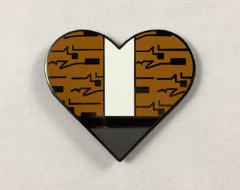 "Rebellious Heart Hard Enamel Pin 1.25"" - Ferris Bueller, John Hughes Fan Hat Tack"