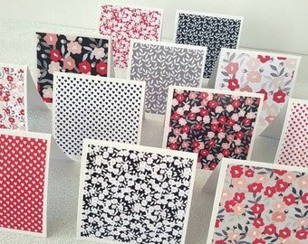 Mini notecards / Mini cards / mini thank you notes Set of 12 / Mini note cards / small cards / 3 x 3 cards