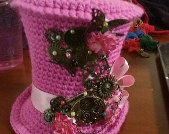Steam punk themed mini top hat fascinators