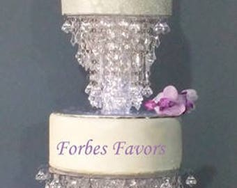 Glamorous Ice Crystal Cake Stand Wedding and Special Events
