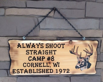 Customized  Hunting Camp Sign