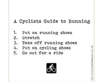 Cycling Card - A Cyclists guide to Running
