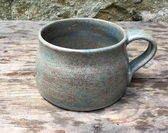 Hand thrown stoneware mug #11