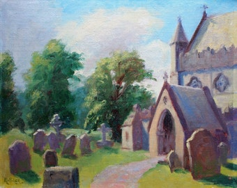 Plein Air Painting, Ireland, Church, St. Canice's Cathedral, Kilkenny