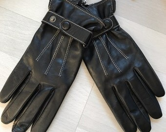 Vintage Leather Gloves NEW in Box! Genuine Lambskin Mens Small/ Womens Large