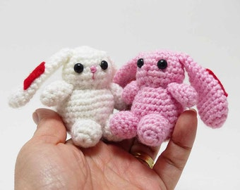 Amigurumi Love Bunny Couple, Bunnies, Handmade Crocheted Bunny Love Couple