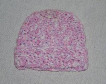 Purple pink variegated Baby Hat
