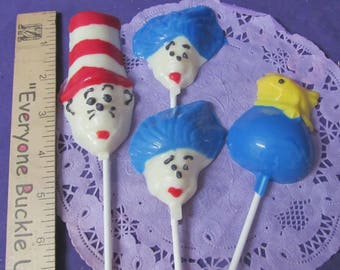 12 Seuss Cat in the hat assorted chocolates lollipops