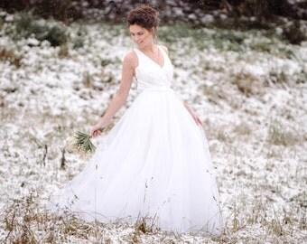 Abito da sposa realizzato a mano, handmade wedding dress