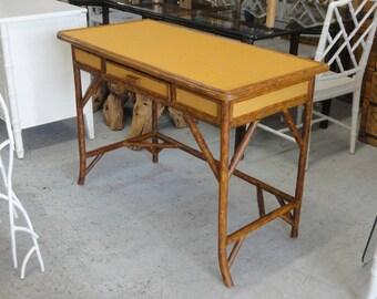 Island Bamboo Wrapped Writing Desk Palm Beach Regency