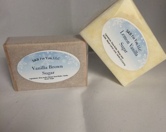 Handmade Soap - Vanilla Brown Sugar with Mango Seed and Shea Butters
