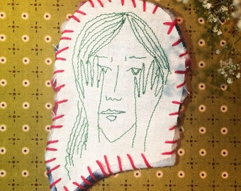 Shame embroidered patch.