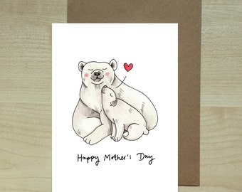 Polar Bear Mother's Day Card