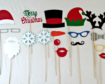Christmas Photo Props - Ugly Sweater Decorations - Party Supplies - Photo Booth