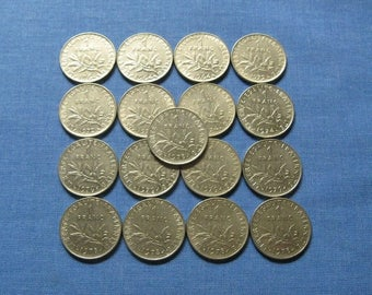 1 Franc Coin, French Coins, Vintage French Coins, Vintage France, Coins from France, One Franc