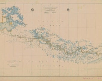 Boundary Waters Historical Map 1930