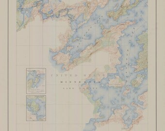 Boundary Waters Historical Map - 1929