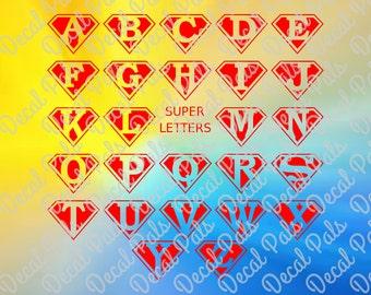 Superman Alphabet, fcm, svg, png, CutFiles