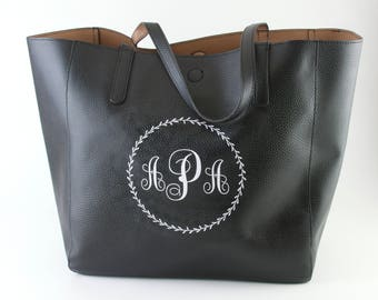 Reversible Tote with Monogram (22.50 x 7.50 x 14.25 Inches)