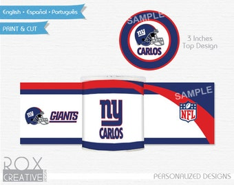 New York Giants Mini Pringles Labels, Giants Printable Labels, Digital Design