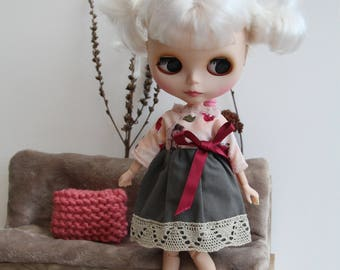 Dress / clothes for doll / Blythe , Barbie, Pullip, Tangkou