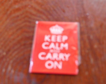 Keep Calm and Carry On Fridge Magnet