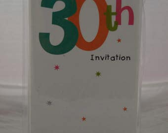Pac of 8 30th Party InVitations